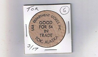 Alaska Wooden Nickel Token - TOK - S&B Department Store