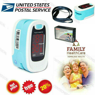 LED FingerTip Pulse Oximeter SpO2 Blood Oxygen O2 Sensor Pulse Rate Monitor,USA!