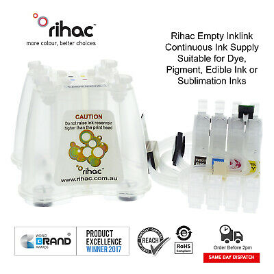 Rihac Empty Sublimation CISS for Epson Workforce WF-2630 using 220 ink cartridge