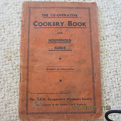 Vintage COOKING BOOK / The Co-Operative COOKERY BOOK and household guide