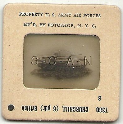 WWII US 35mm Recognition Slide Negative- Panzer- UK Churchill Tank- 6 Pdr- #6