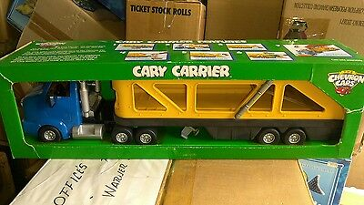 "THE CHEVRON CARS ""CARY CARRIER"" Collectible Toy Car Hauling Truck/ NOS"