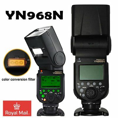 Yongnuo YN968N LED Wireless TTL Speedlite Flash Built-in Diffuser For Nikon UK