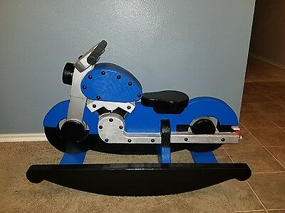 Motorcycle Wooden Rocking Horse (handcrafted)