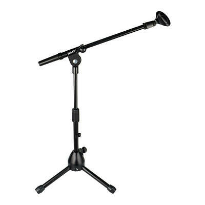 Audio Short Tripod Microphone Stand with Telescoping Boom