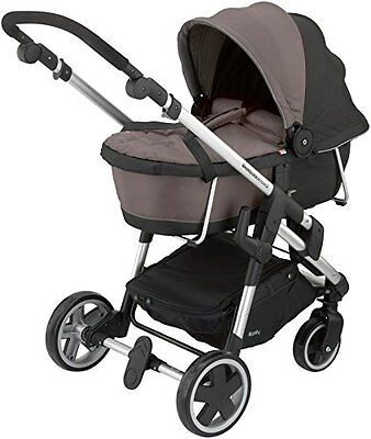 Kiddy Click 'n Move 3 Carrycot Walnut Baby Stroller Bassinets, New