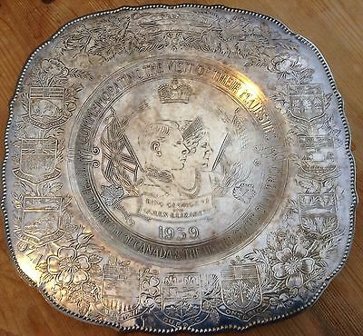 Silver Plated Dish Commemorating George VI and Queen Elizabeth visit to Canada