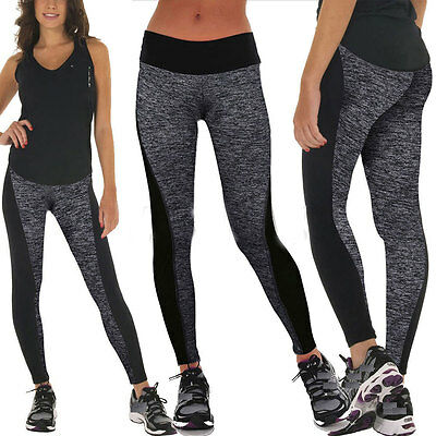Womens Yoga Sports Pants Apparel Leggings Running Gym Fitness Stretch Trousers