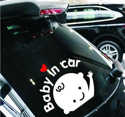 Car Stickers Baby In Car Baby Car Reflective Warning Car Rear Window Stickers