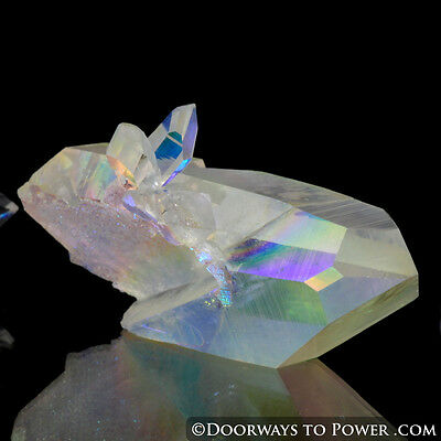 Angel Aura Pleiadian Starbrary Tantric Twin Crystal 'Angel Ship'