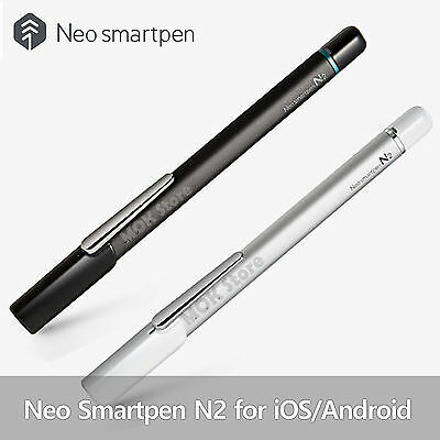 Neo Smartpen N2 for iOS and Android Smartphones and Tablets-Titan Black ,Silver