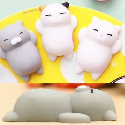 Anti Stress 3D Cat Animal Soft Stress Reliever Autism Mood Squeeze Toy Kids Gift