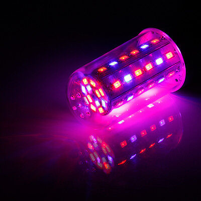 E27 85-265V 28LED 28W Red Blue Plant Grow Light Bulb Garden Hydroponic Lamp 360°