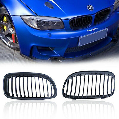 Matte Black Front Kidney Grille Grill For BMW E90 E91 3-Series LCI 4-Door 09-11