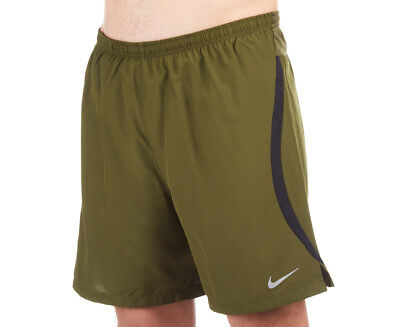 Nike Men's Dry 7-Inch Challenger 2-In-1 Shorts - Legion Green/Black