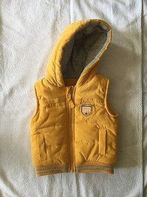 Yellow Body Warmer. Excellent Condition. 0-3 Months.