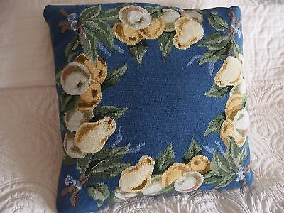 Vintage Hand Stitched completed work tapestry cushion