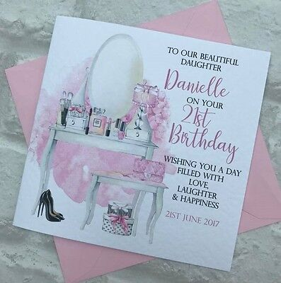 Personalised Daughter/Granddaugther/Niece Birthday Card 13th/16th/18th/21st