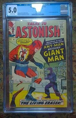 Marvel : Tales to Astonish Ant-Man becomes Giant man #49 CGC 5.0 : November 1963