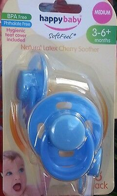 Happy Baby Dummy Medium 3-6+ months - Old Style latex cherry dummies soother