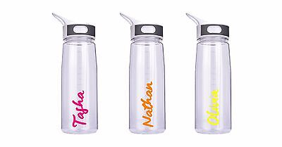 Love Island Inspired Water Drinking Bottle Personalised Name BOTTLE NOT INCLUDED