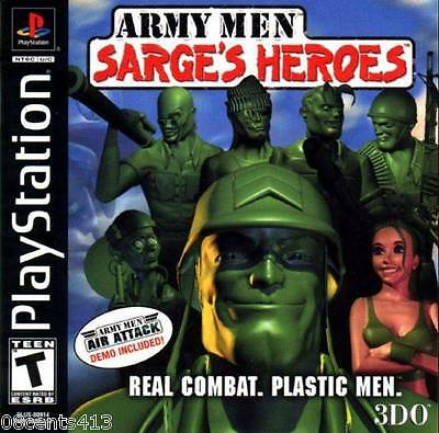 Army Men: Sarge's Heroes (PlayStation PS1) Take Sarge Through 16 Missions!