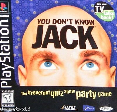 You Don't Know Jack (2-Disc PlayStation PS1) 1,400+ Questions & the Options!