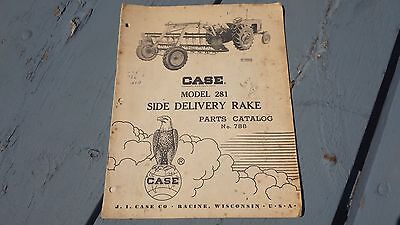 Vintage Case Model 281 Side Delivery Rake Parts Catalog #788 Manual Booklet