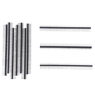 SY New 10 Pcs Practical Superior 2x40 Pin 2.54mm Pitch Double Row PCB Pin Header