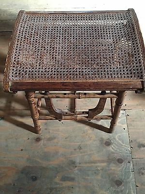 Wicker Stool with Cane Seat and Wooden Harp Supports 1800