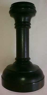 """Antique real black Ebony candlestick 4.75"""" tall and in wonderful condition"""