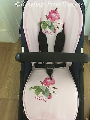 Custom Ted Baker Seat Liner For Bugaboo Cameleon Buffalo Donkey Bee+ 3 5