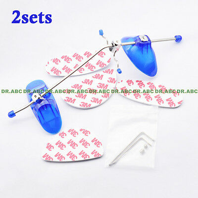2× Adjustable Orthodontic 3M Face Mask Reverse Pull Headgear / Facial Mascara