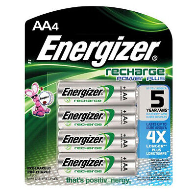 4 Energizer AA 1300 MAh Rechargeable Batteries NiMH ACCU HR6 Phone