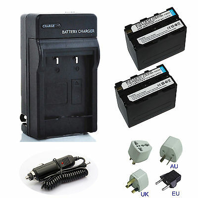 For Sony NP-F970 Battery Charger HXR NX100 AX2000 FX1000 FX7 F960 F950 camcorder