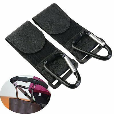 Bestgoo Multi-purpose Baby Carriage Stroller Hooks - 2 Pack Moomy Hook Set for