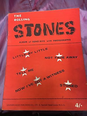 The Rolling Stones album of song hits with photographs music book