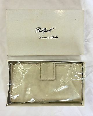 Vtg Billpak Artistans in Leather Ivory Leather Women's Wallet New In Box NOS