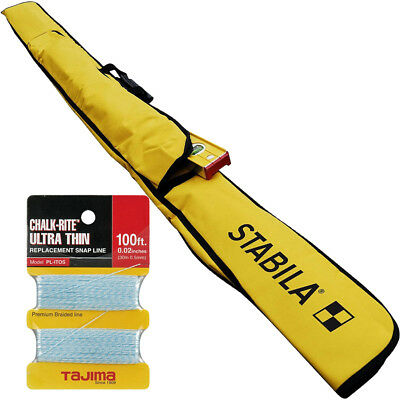 Stabila 30035 7 ft - 12 ft Plate Level Carrying Case with Tajima Snap Line New