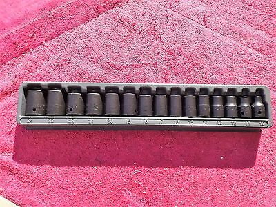 "Snap-On *brand New!* 1/2"" Drive 315Immya 15-Piece Metric Impact Socket Set"