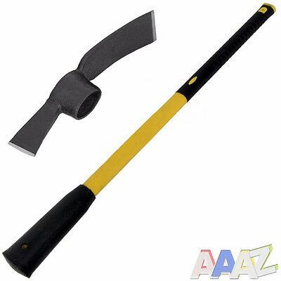Heavy Duty 5lb Grubbing Mattock Steel Head +Fibreglass Handle shaft 90cm 36in