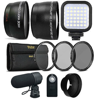 58mm Fisheye Telephoto & Wide Angle Lens Accessory Kit for Canon DSLR Cameras