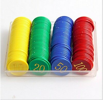 160 pcs Poker Chips dice plastic 4 color with number