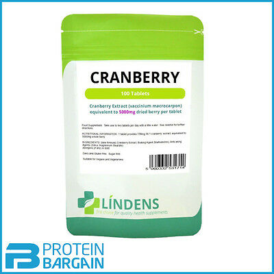 Cranberry Juice 5000mg Tablets (100 pack) cystitis urinary health [Lindens 1714]