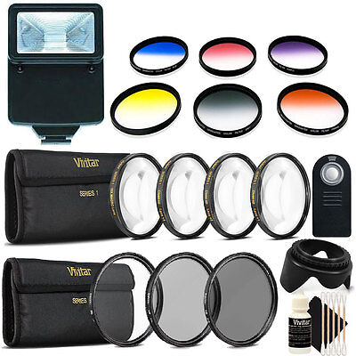 58mm Color Filter Kit with Top Lens Accessory Kit for Canon DSLR Cameras