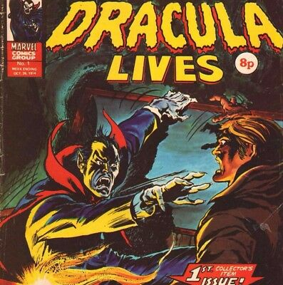 Dracula Lives Weekly Vintage UK Comic & Annual Collection on DVD