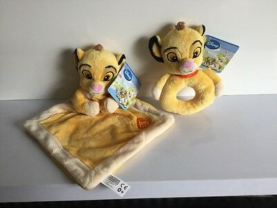 Posh Paws Disney Lion King Blankie And Rattle   Comforter Soft Toy New Sealed