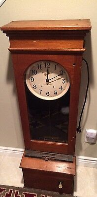 "Antique / Vintage Electric "" SIMPLEX TIME RECORDER Co"" Time  Punch Clock Ind."
