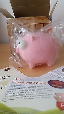 Natwest Pink Pig PIGBY Piggybank Boxed with Certificate Moneybox NEW