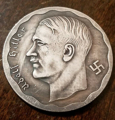Adolf Hitler Third Reich Nazi 100 RM coin 1933 Exunomia WW2 WWII German Germany